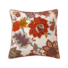 Natural Jacobean Crewel Cushion