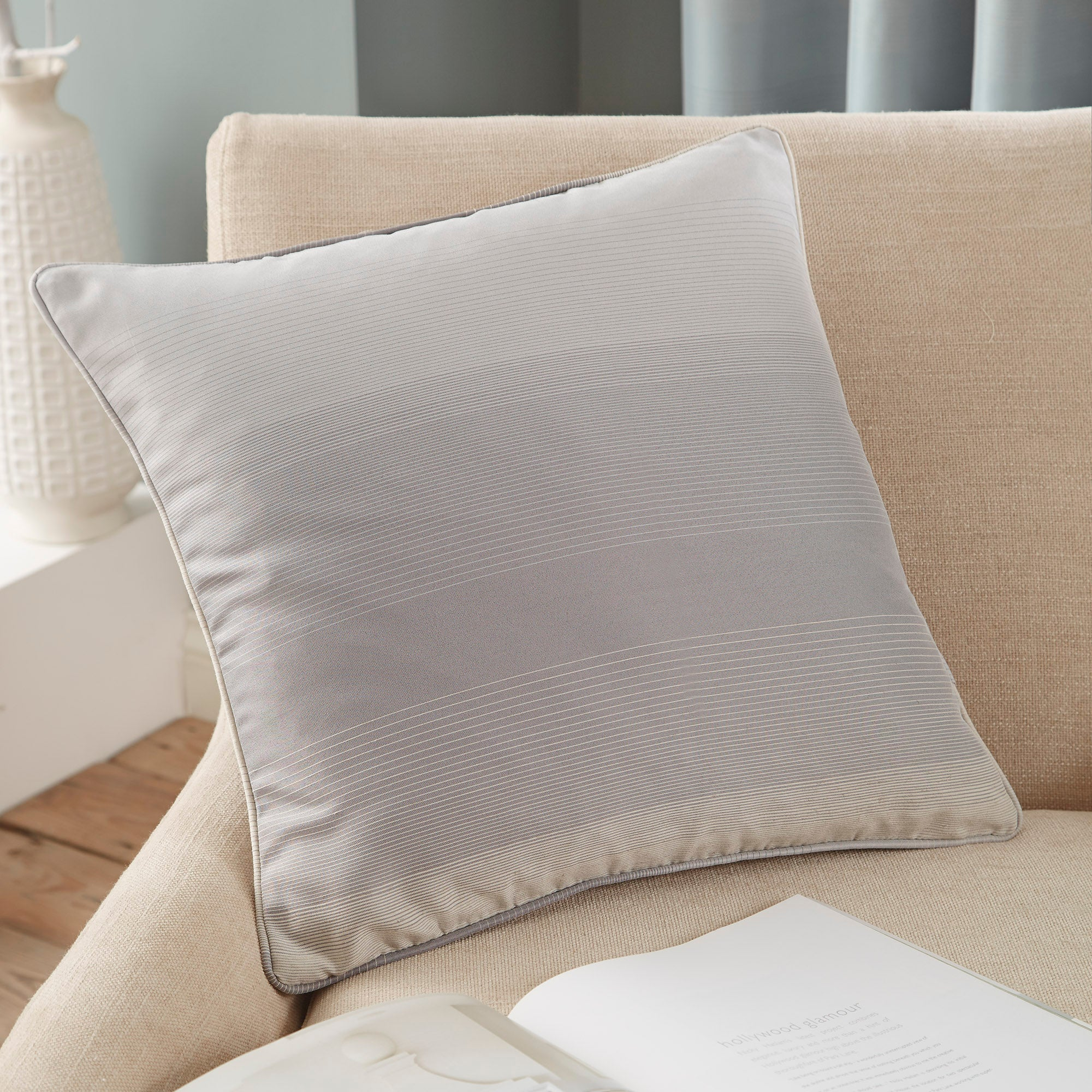 Grey Waves Collection Cushion