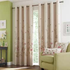 Natural Heath Lined Eyelet Curtains