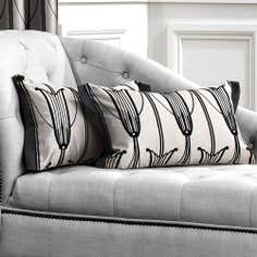 Black Charleston Collection Cushion