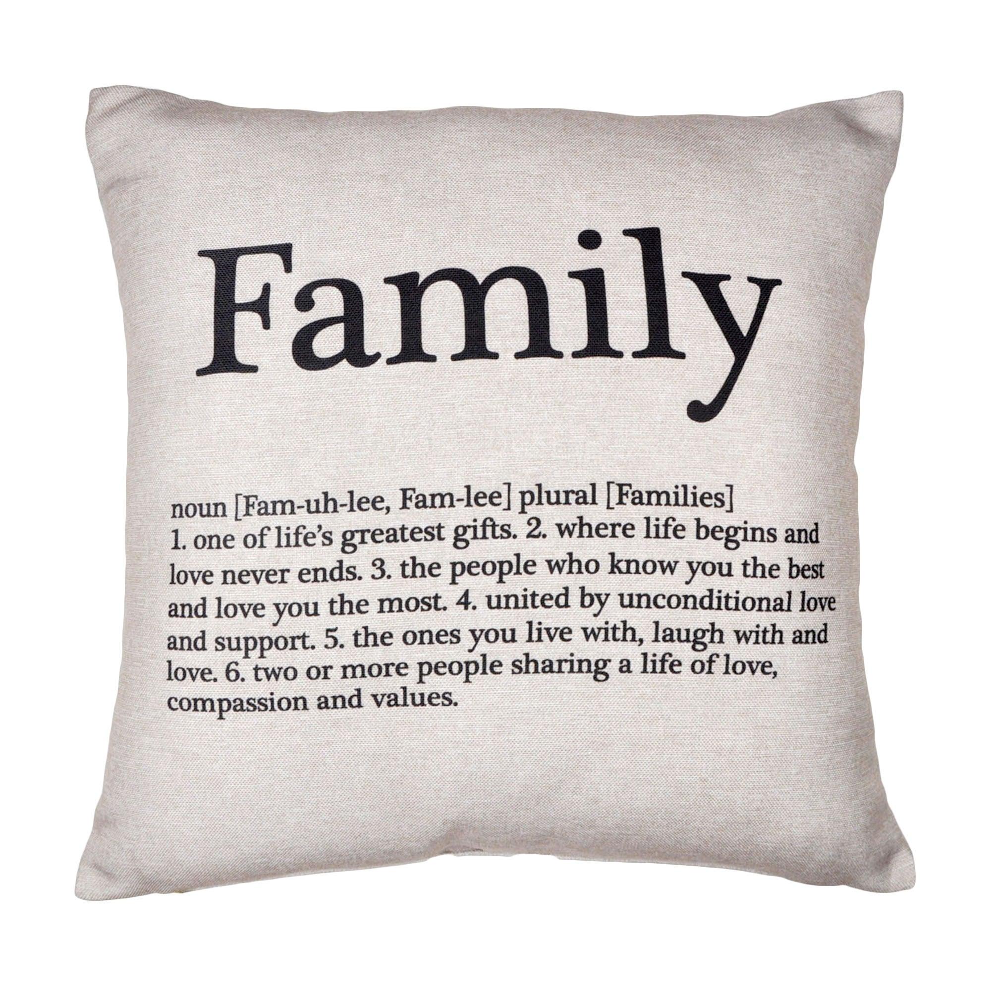 Natural Family Cushion