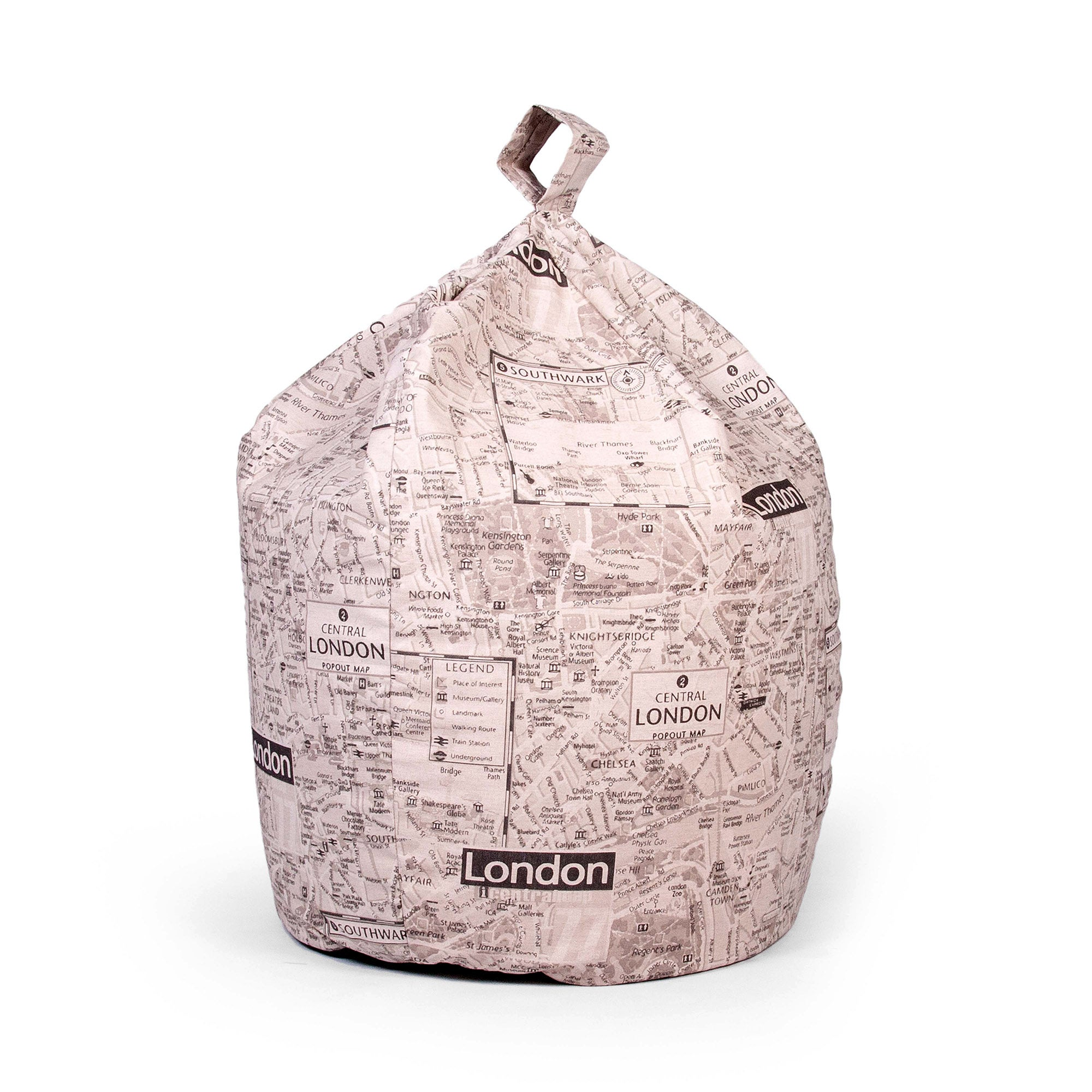 London Map Bean Bag
