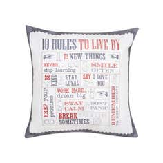 Salvage Rules Square Cushion