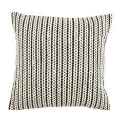Black and White Hand Braid Cushion