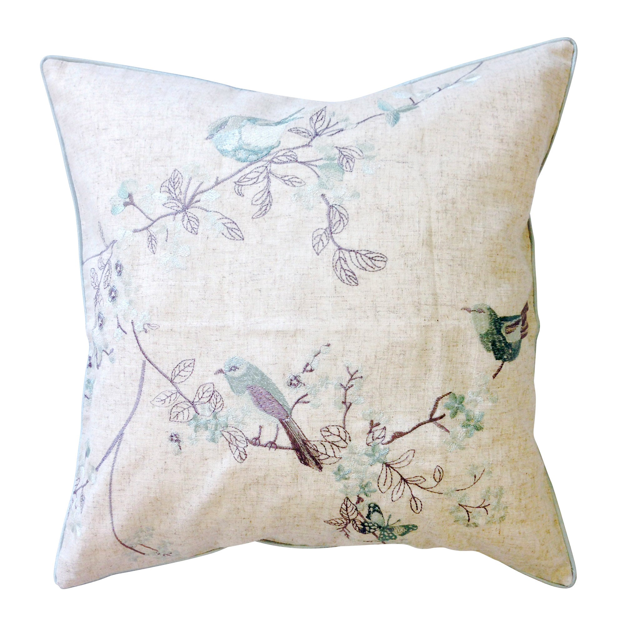 Duck Egg Beautiful Birds Cushion