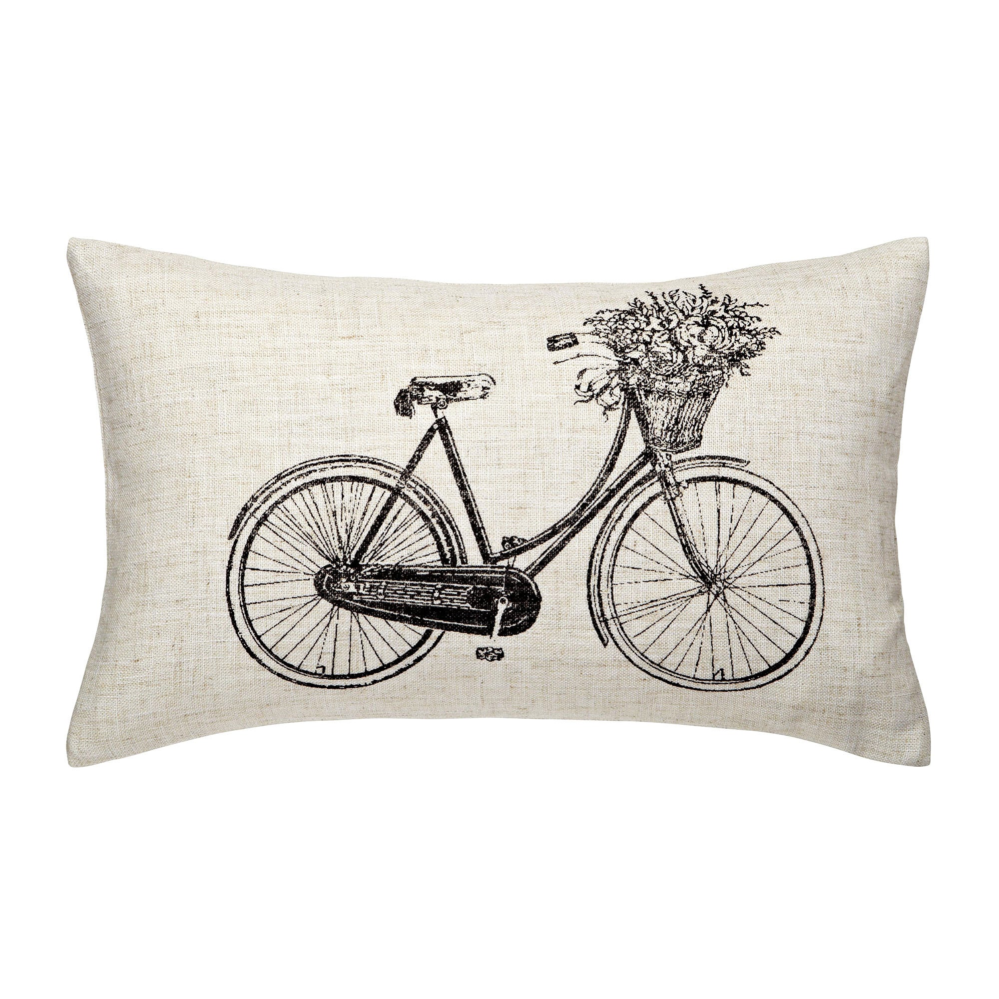 Bike with Flowers Cushion