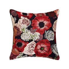 Red Floral Tapestry Cushion
