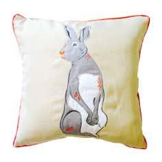 Felt Hare Square Cushion