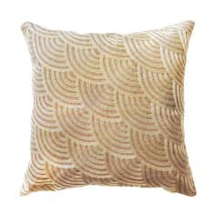 Scallop Waves Mink Cushion