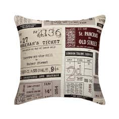 Salvage Ticket Collection Square Cushion