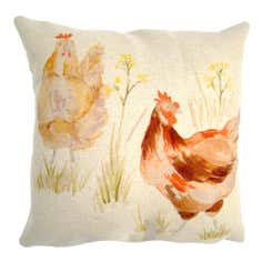 Hens Cushion Cover