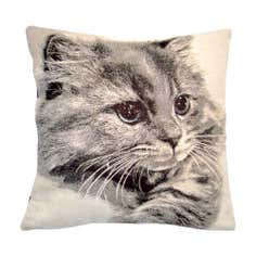 Tapestry Cat Cushion Cover
