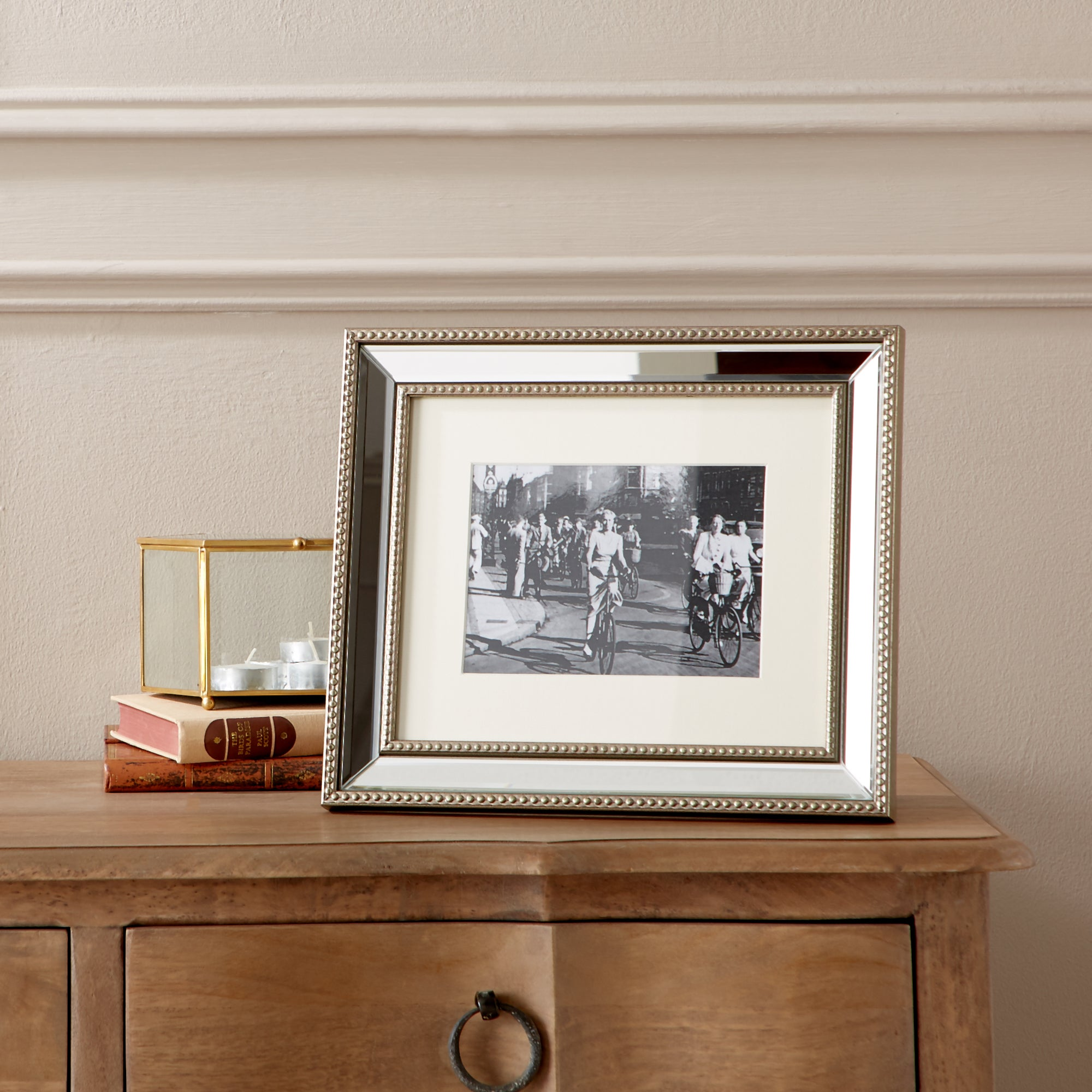 Dorma Champagne Mirrored Photo Frame