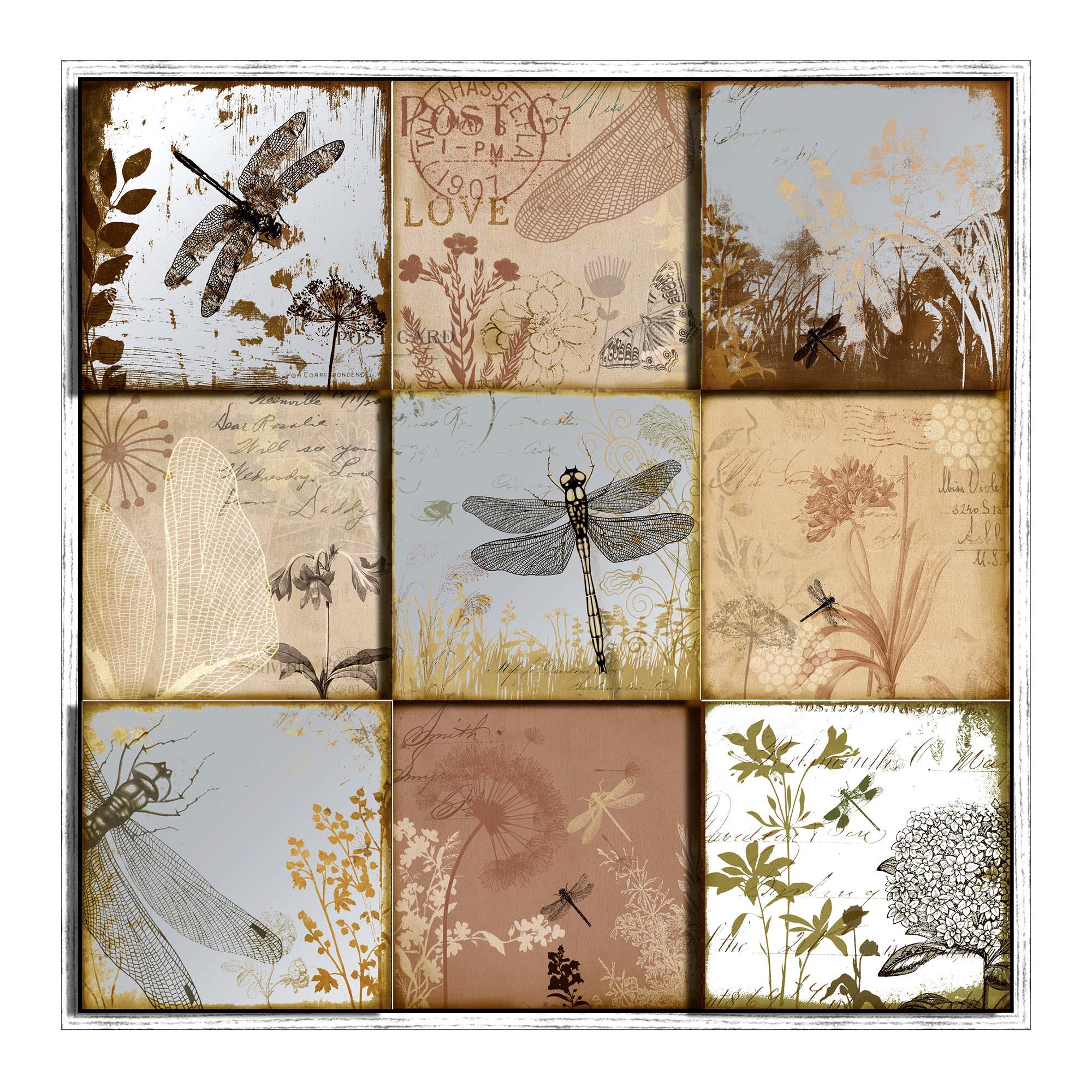 Botanical 9 Square Framed Print