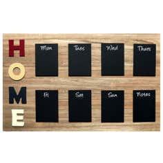 Wood Grain Home Memo Board