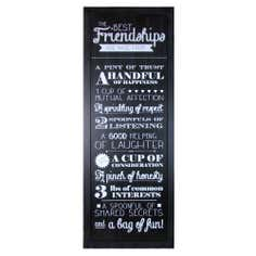 Friendship Wall Plaque