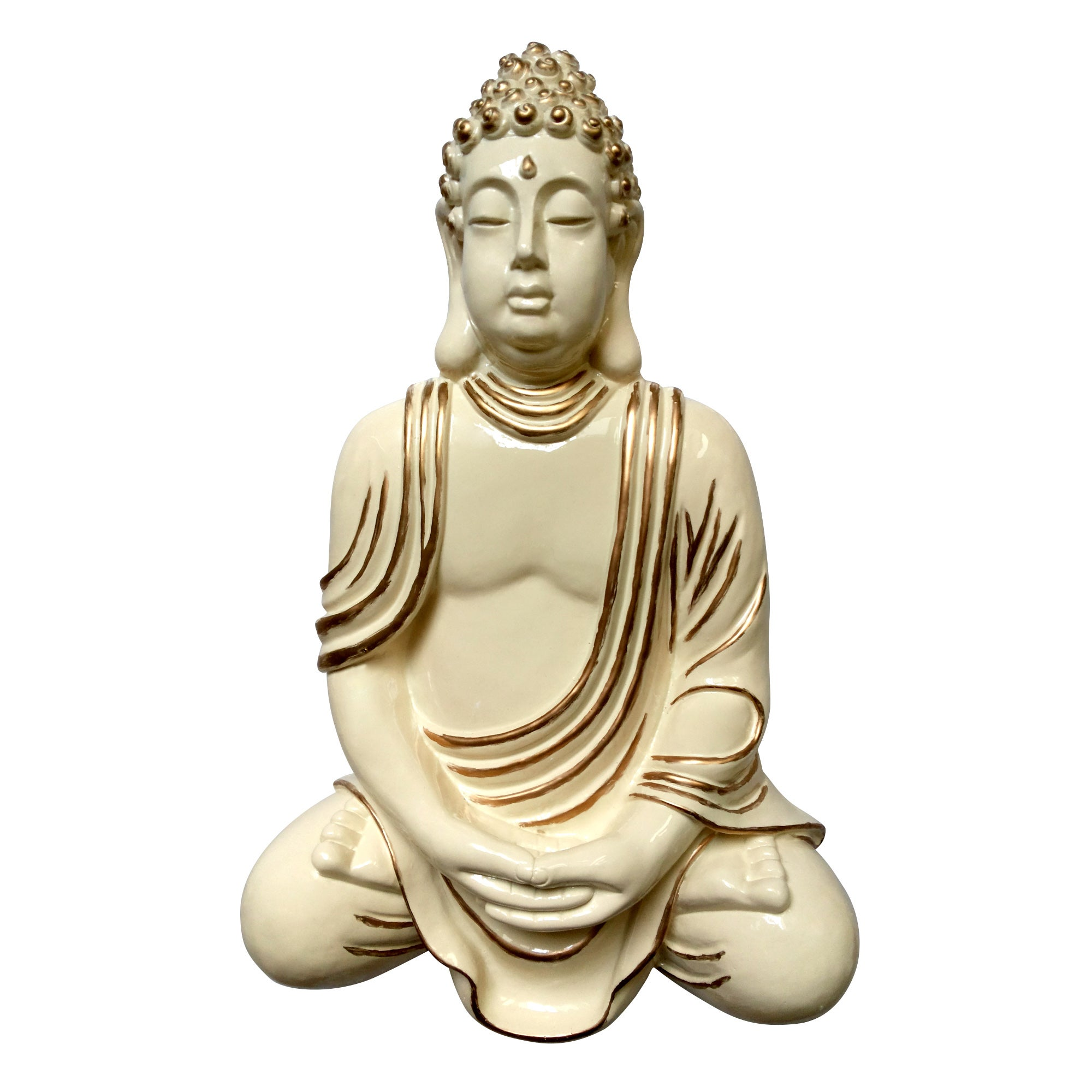 Cream Wall Mounted Buddha