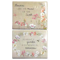 Set of 2 Botanical Plaques