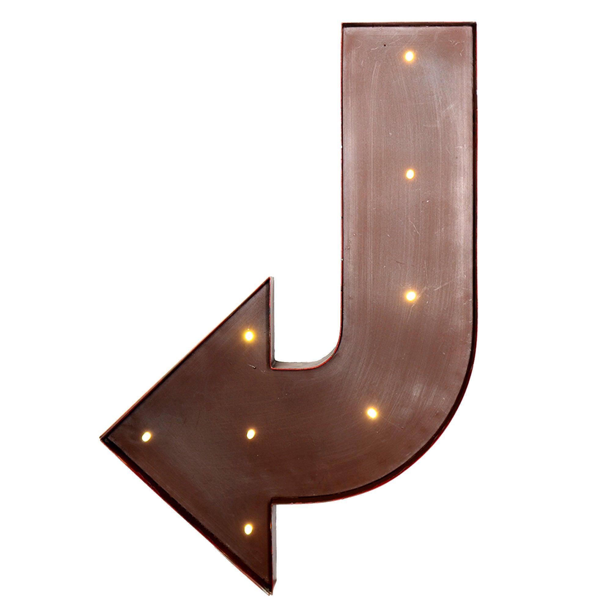 Red LED Metal Arrow