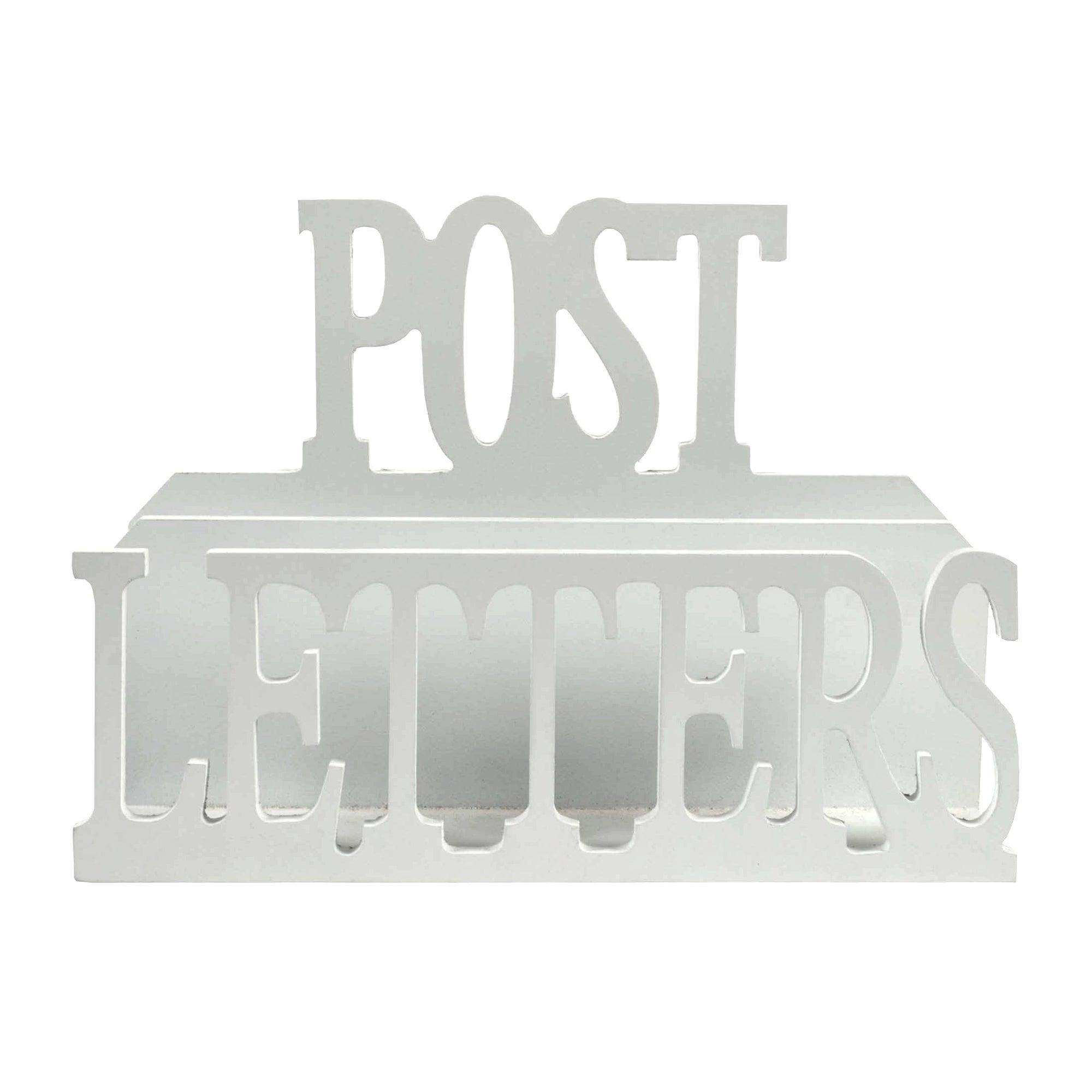 White Wooden Letter Rack
