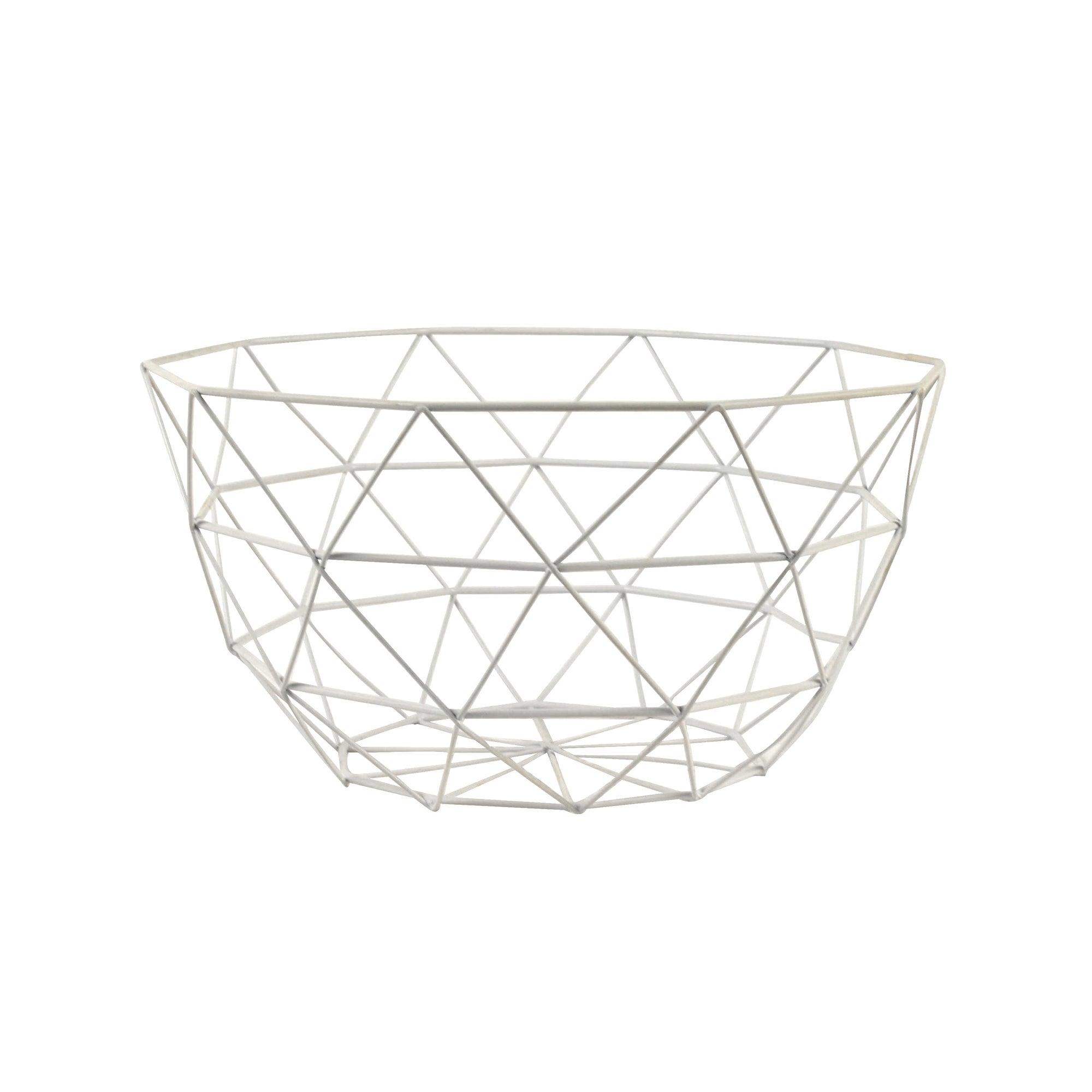 White Decorative Wire Bowl