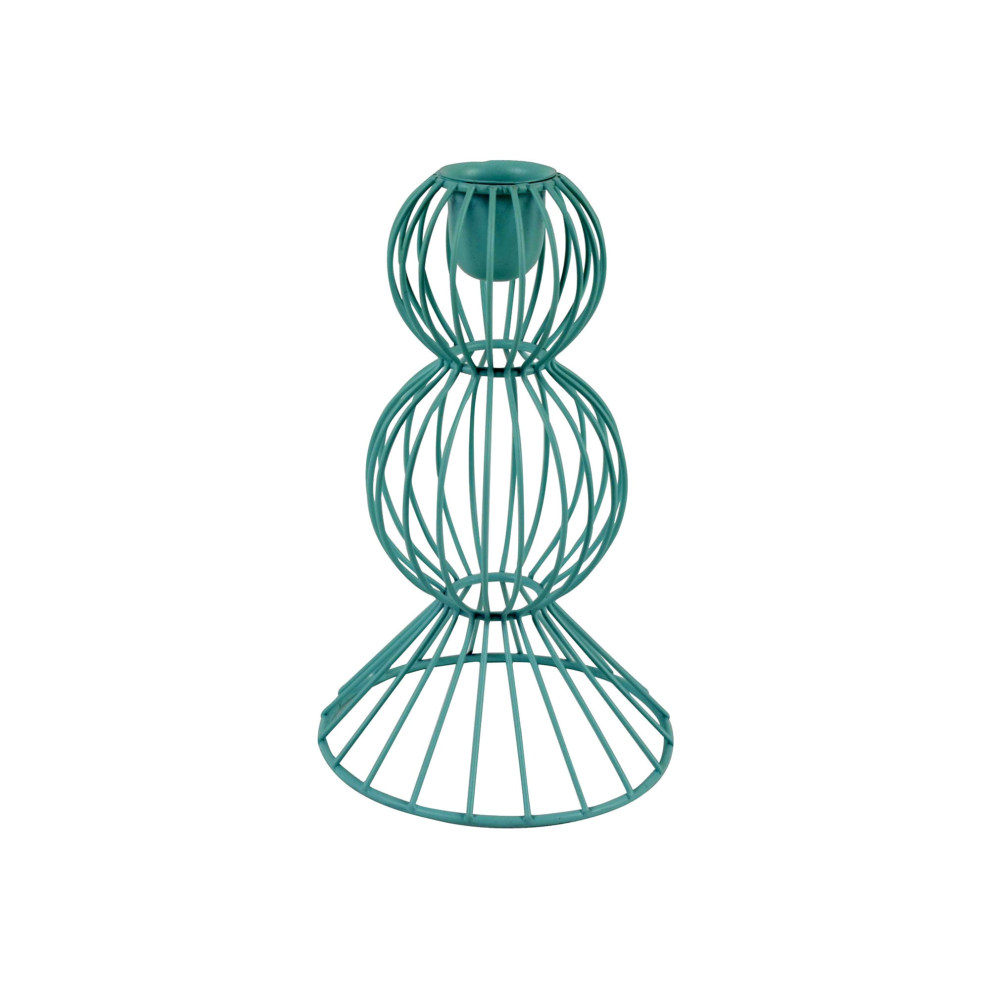 Teal Wire Candlestick