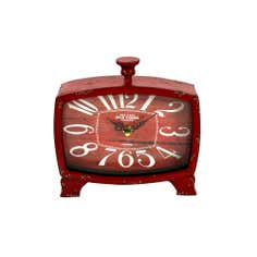Red Vintage Table Clock