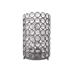 Silver Jewelled Candle Holder