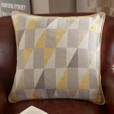 Ochre Revival Filled Cushion