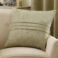 Green Chenille Collection Cushion