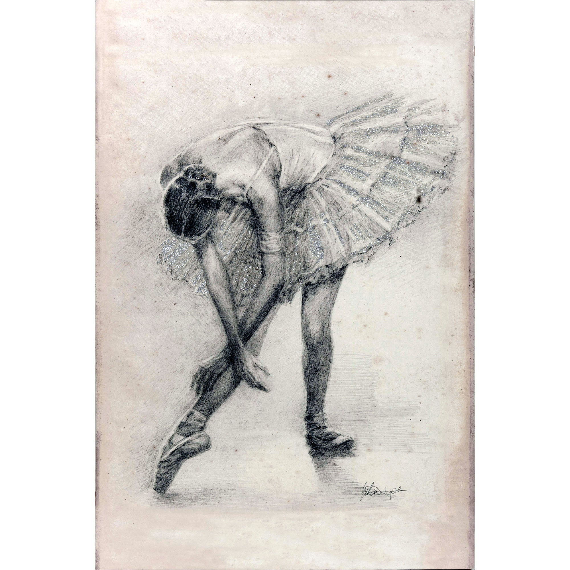 Ballerina Embellished Canvas