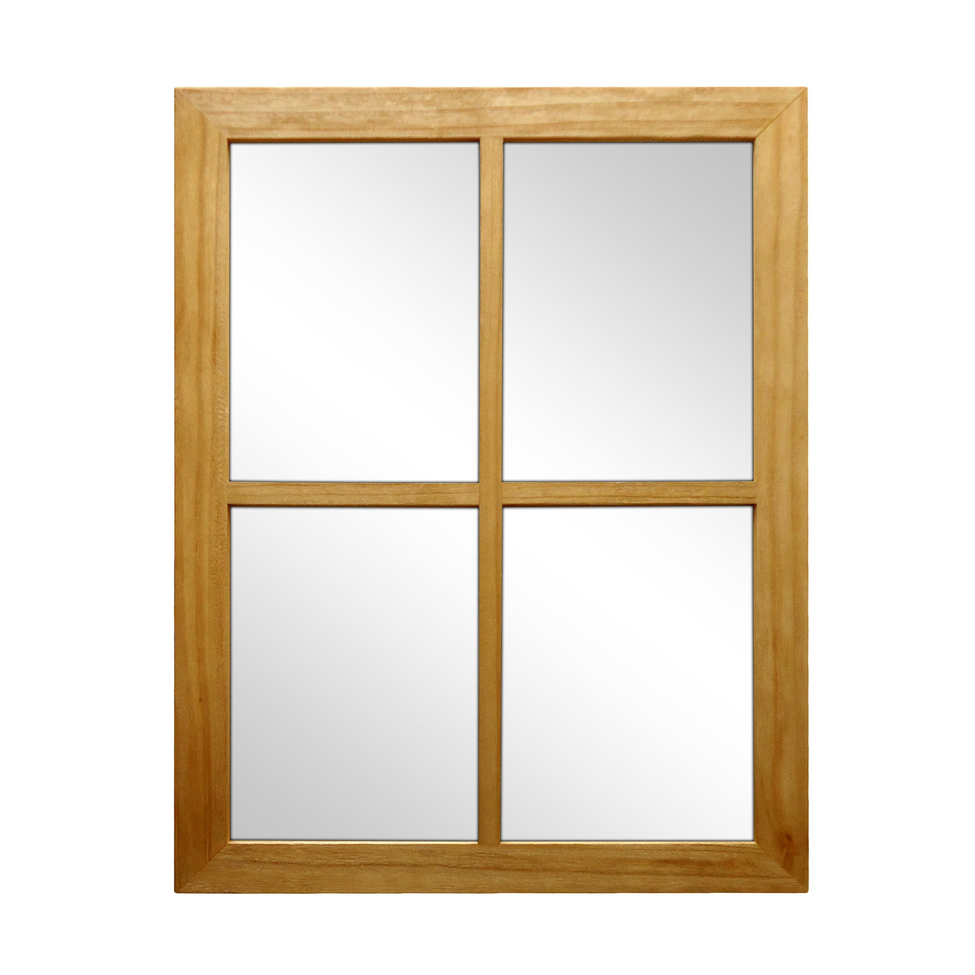 Natural Wooden Window Mirror