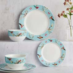 Beautiful Birds Collection 12 Piece Dinner Set