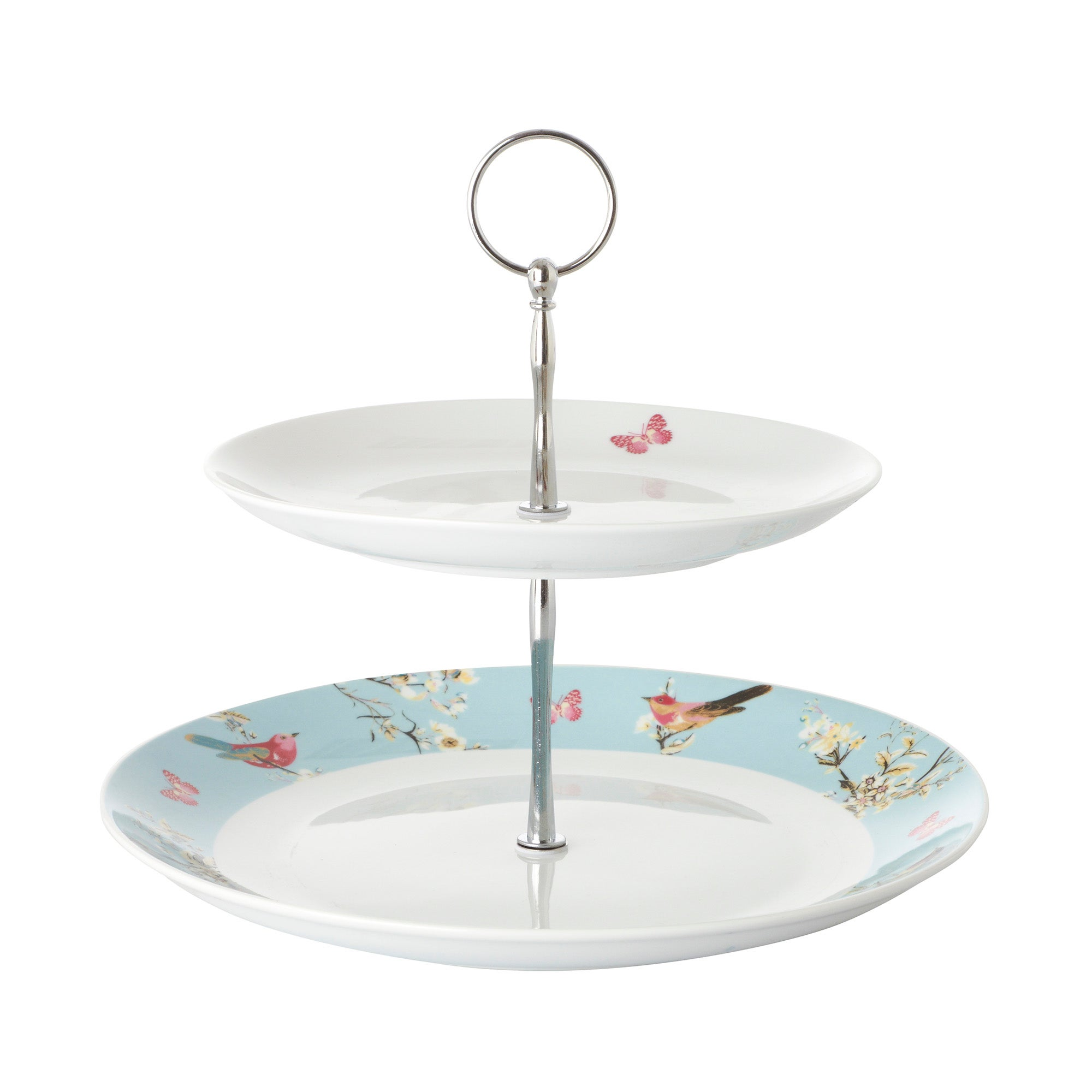 Beautiful Birds Collection 2 Tier Cake Stand