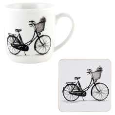 Bicycle Mug and Coaster