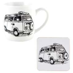Campervan Mug and Coaster