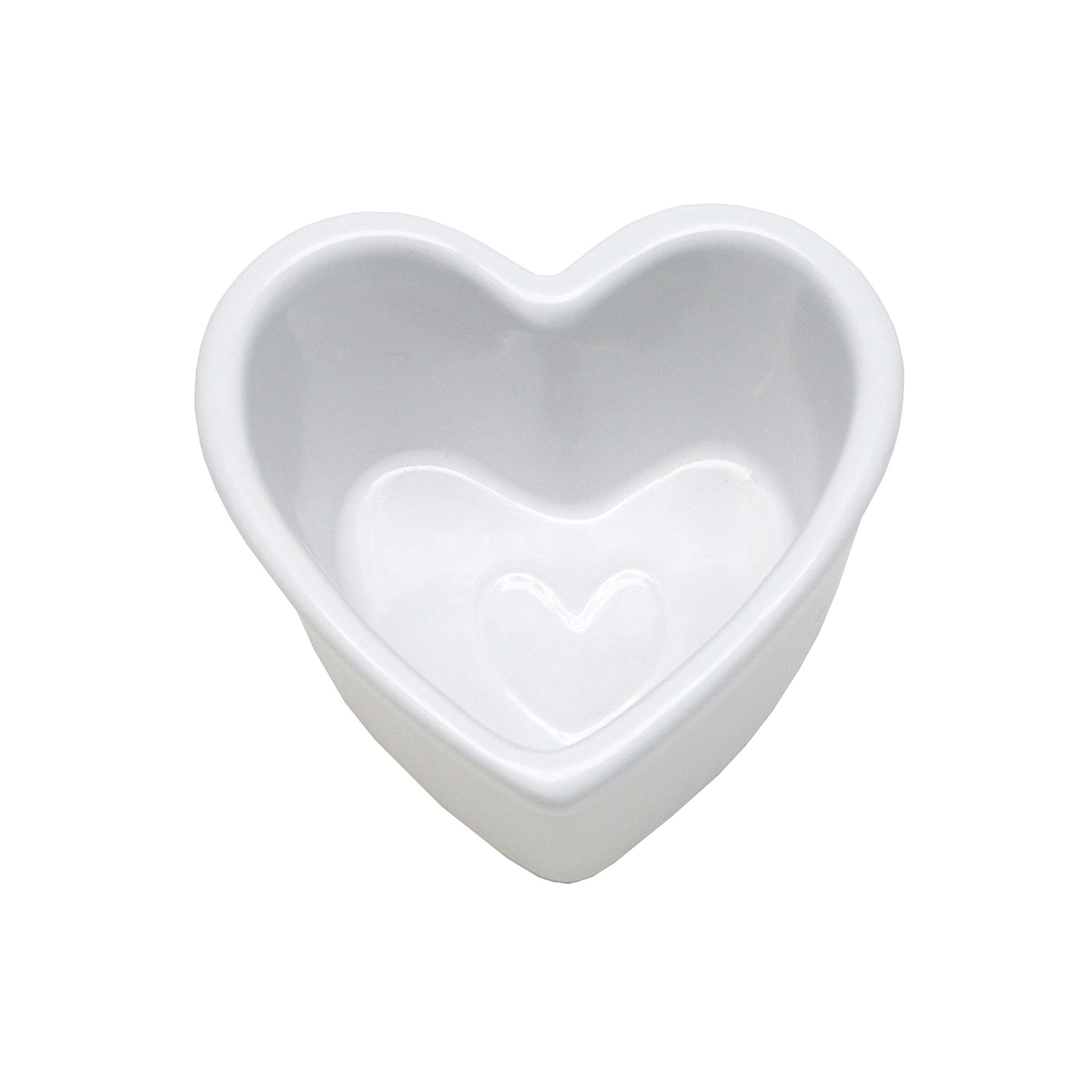 White Country Heart Collection Ramekin