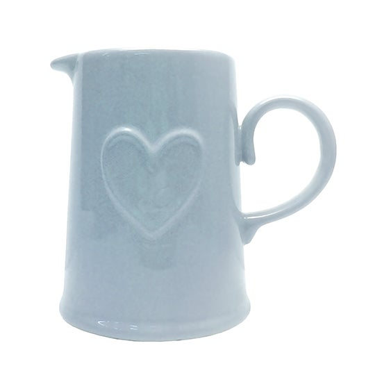 Duck Egg Country Heart Collection Pint Jug