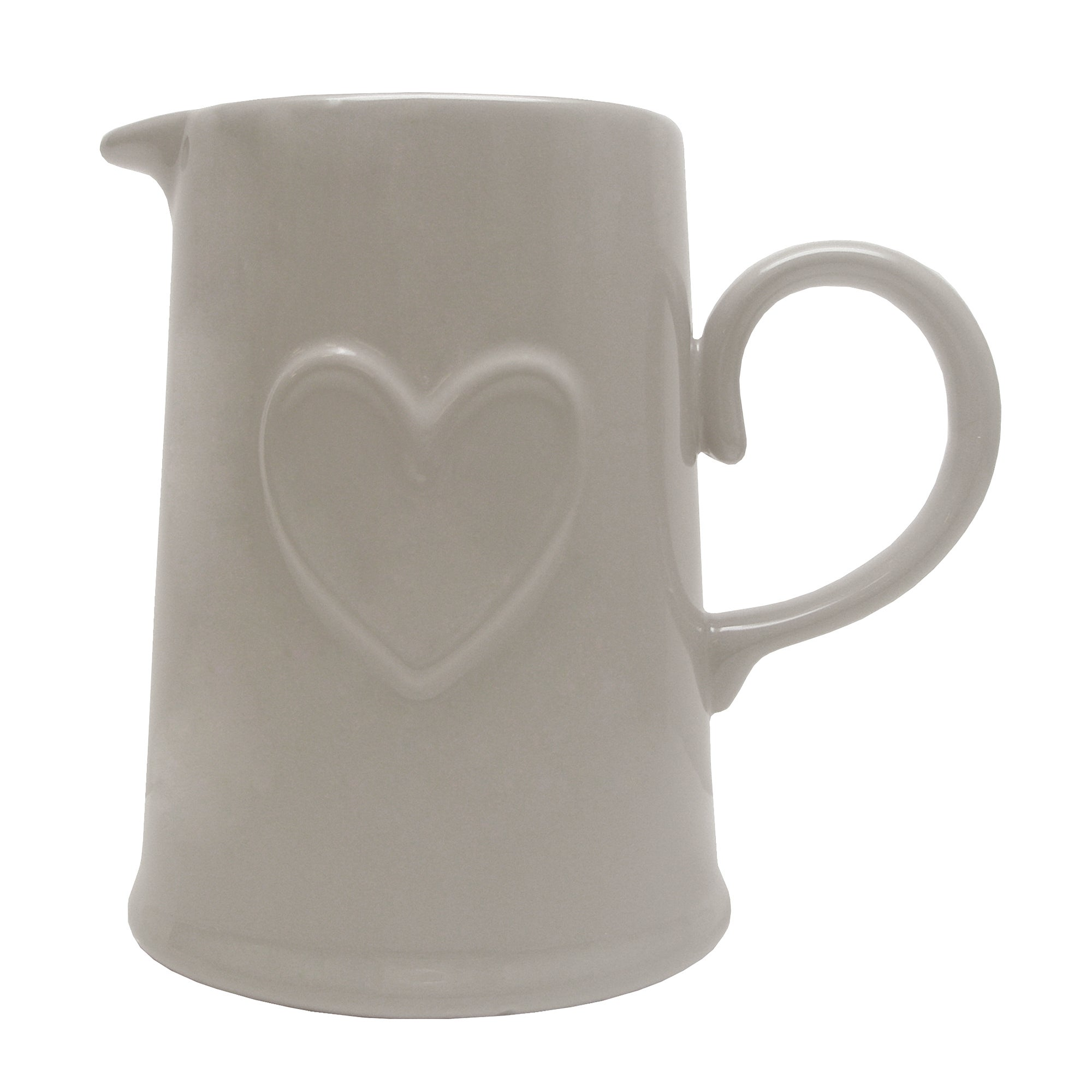 Taupe Country Heart Collection Jug