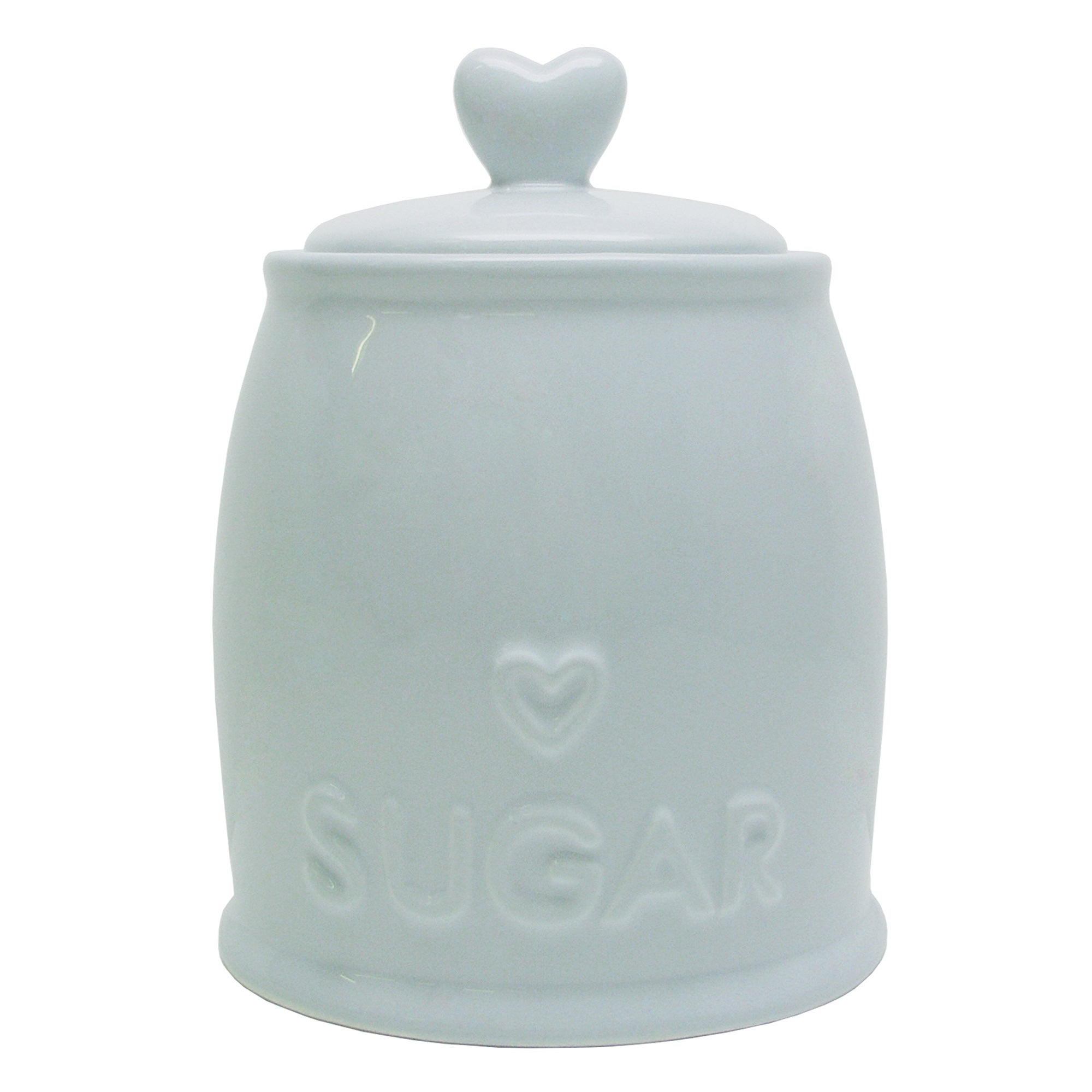 Duck Egg Country Heart Collection Sugar Storage Jar