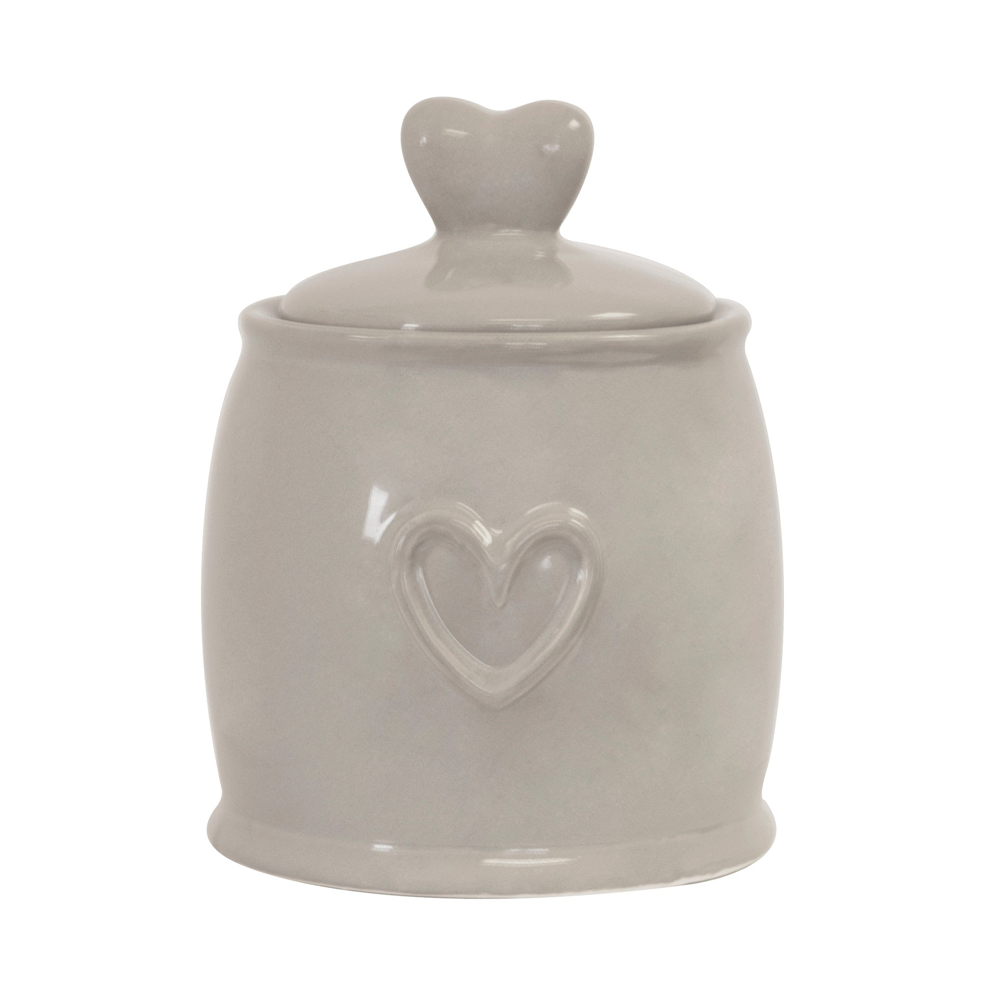 Taupe Country Heart Collection Sugar Storage Jar