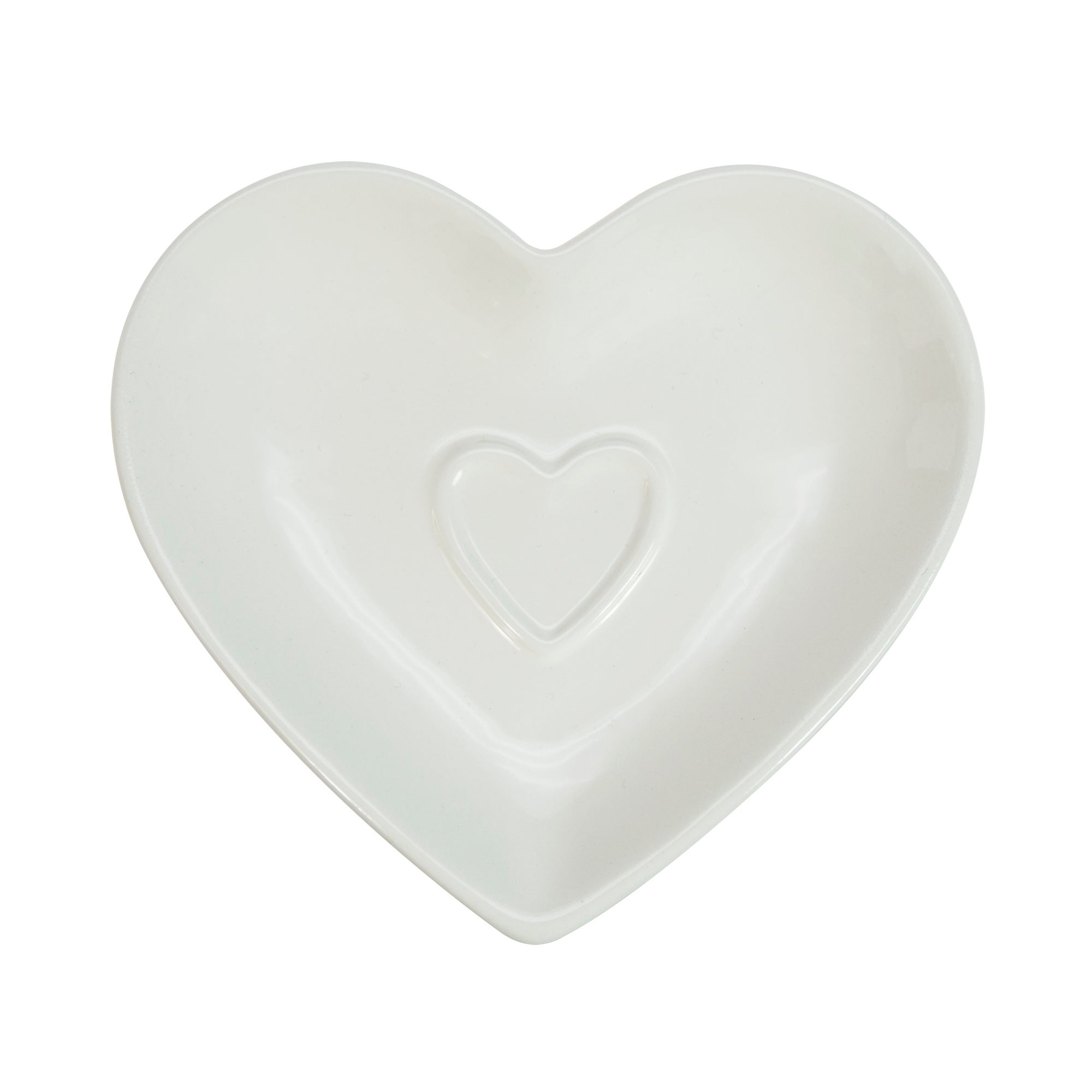 White Country Heart Collection Teabag Tidy