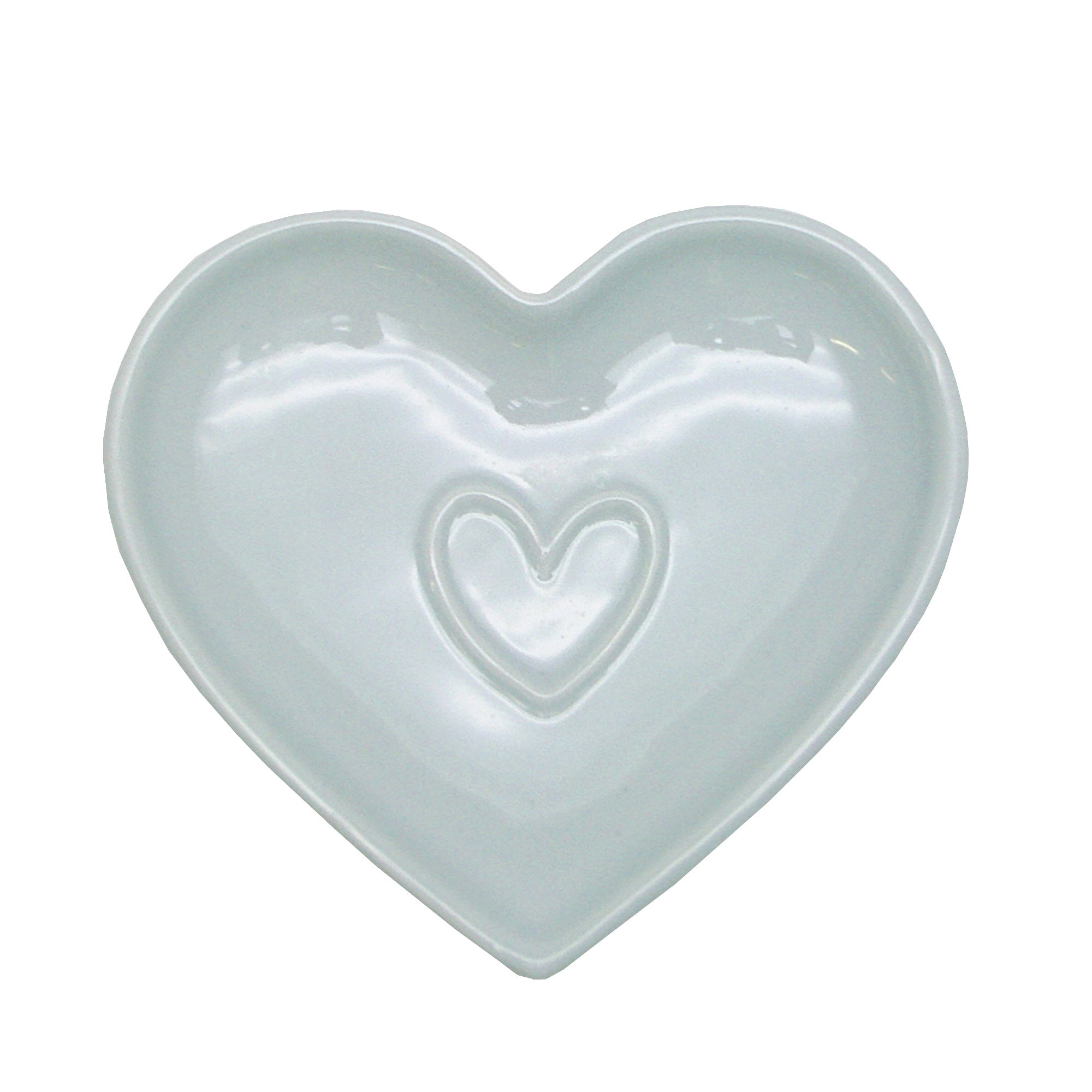 Duck Egg Country Heart Collection Teabag Tidy