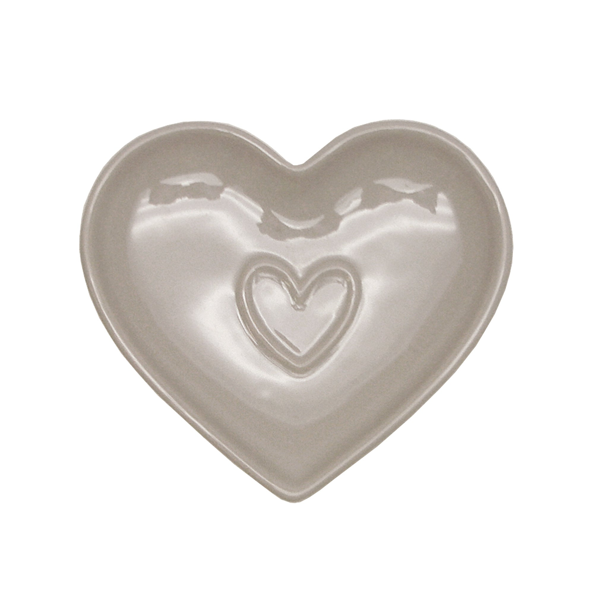 Taupe Country Heart Collection Teabag Tidy