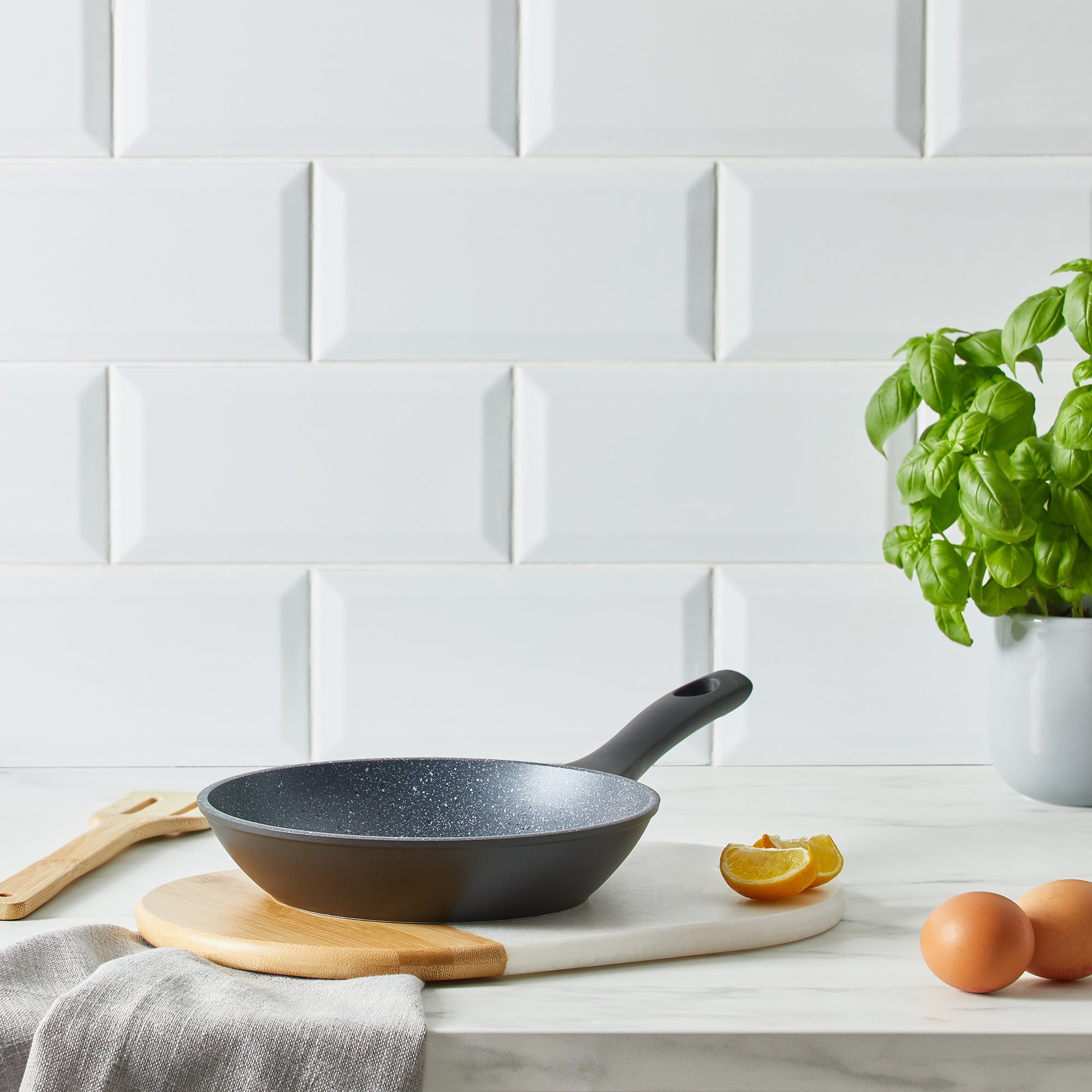 Marble Stone Effect 20cm Frying Pan