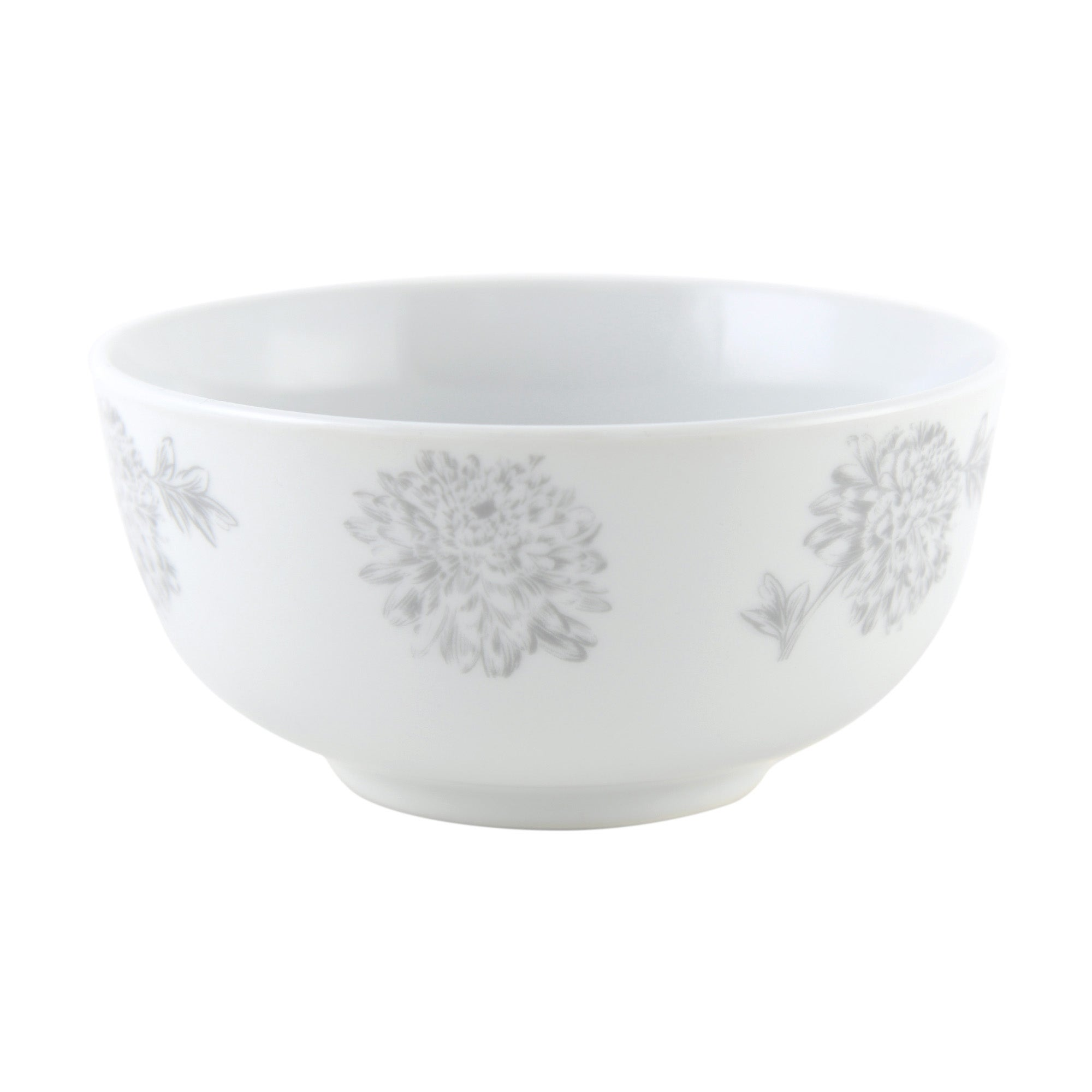 Etched Floral Collection Bowl