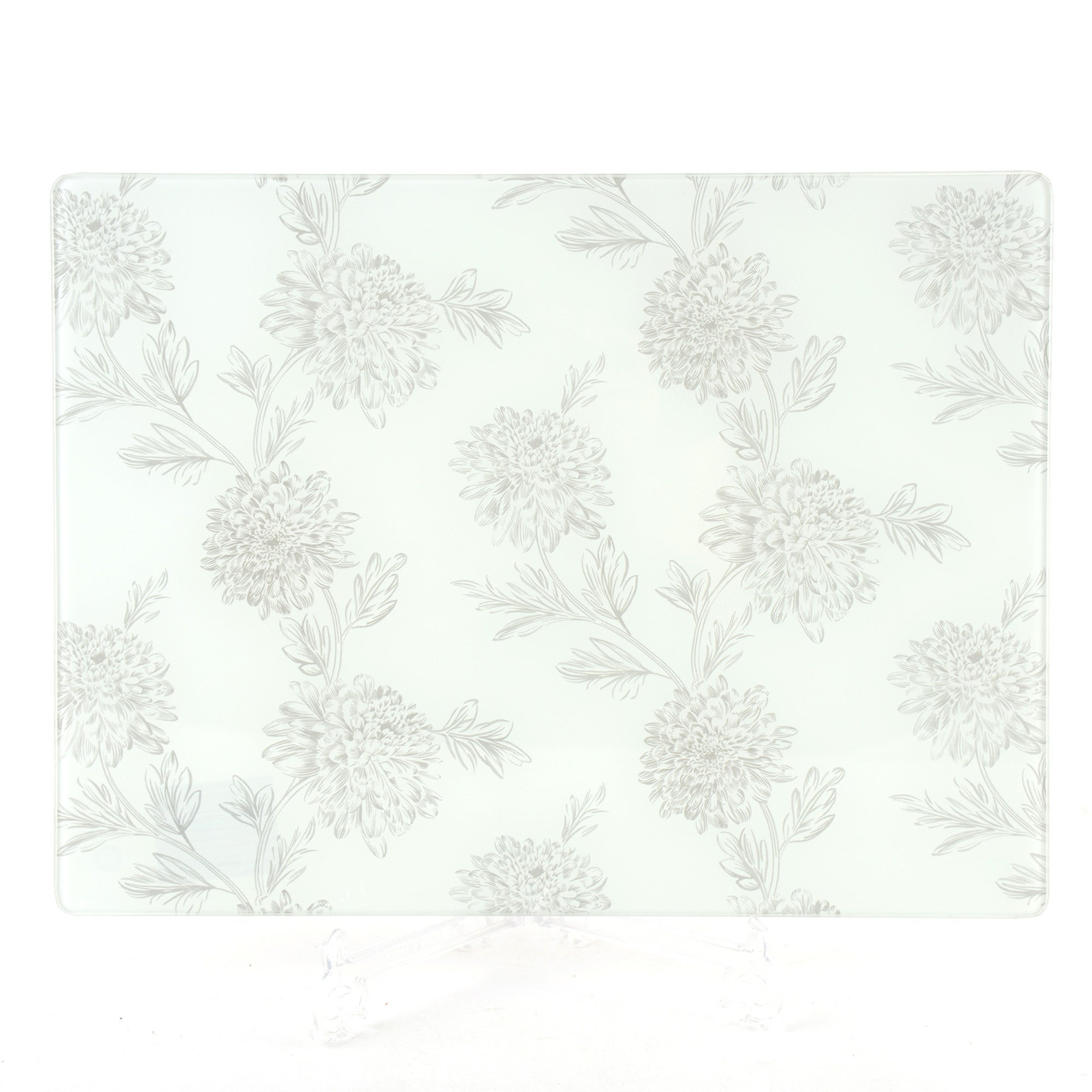 Etched Floral Collection Glass Worktop Saver