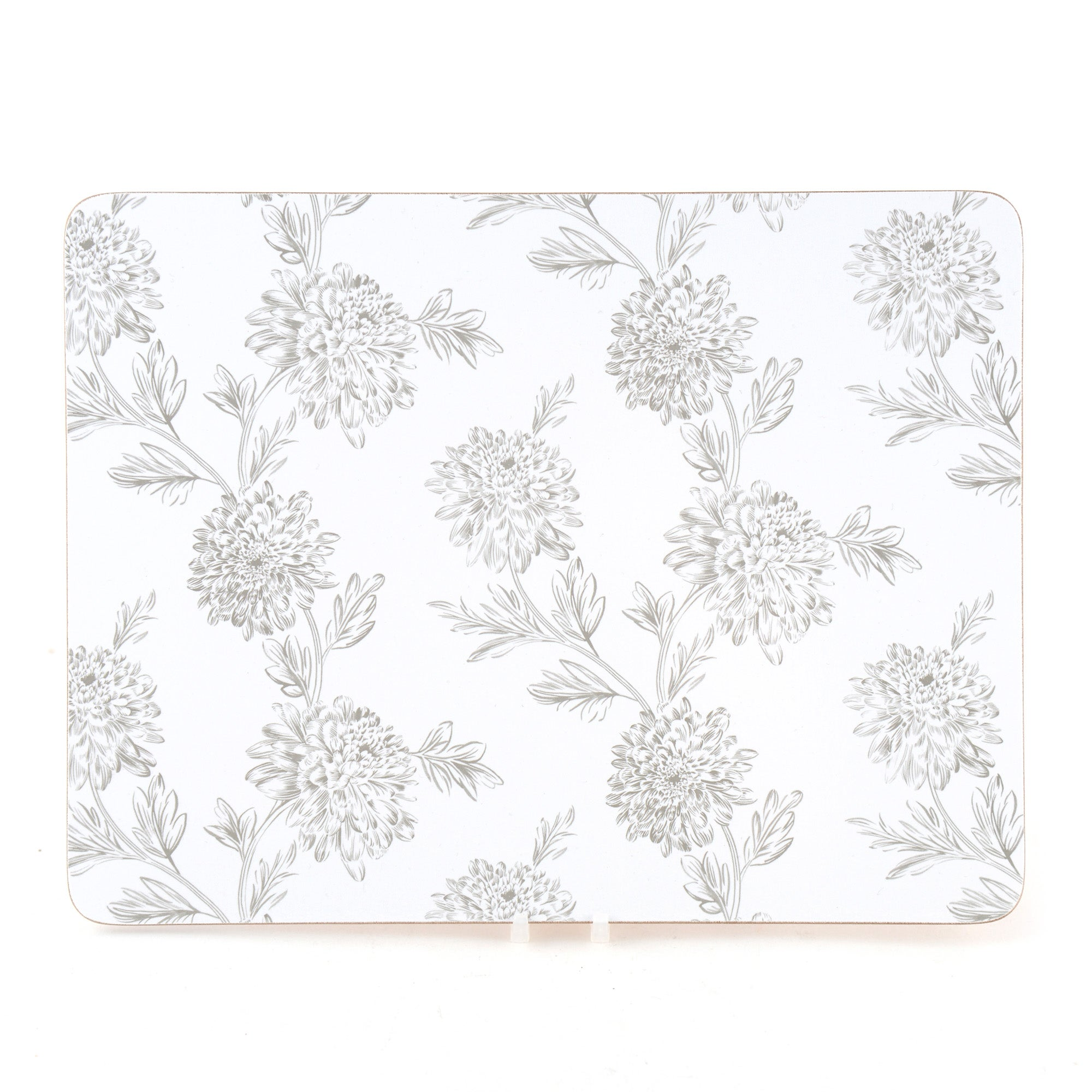 Etched Floral Collection Set of 4 Placemats