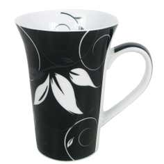 Fleur Collection Black Flared Mug
