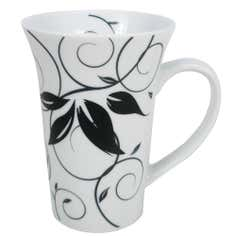 Fleur Collection White Flared Mug